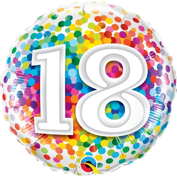 6 X PRINTED LATEX BALLOONS AGE 18 HELIUM QUALITY  18th BIRTHDAY PARTY DECORATION