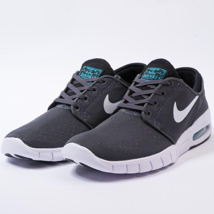 Nike stefan janoski max (dark grey/white-black-gmm blue)-
