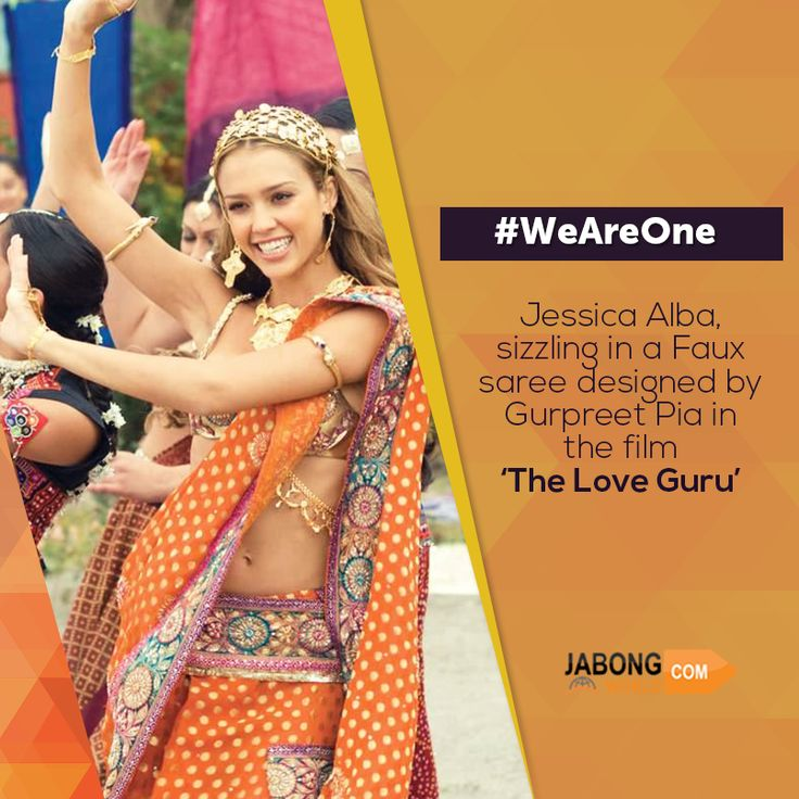 Jessica Alba beautifully sporting a #faux #saree! How do you think she looks and if she did justice to the attire? #WeAreOne #Fashion