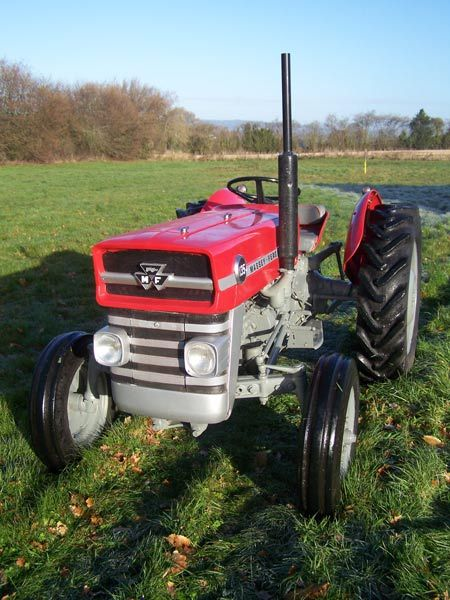 Massey Ferguson MF 135 Tractor - I prefer this headlight treatment and rounded fenders.