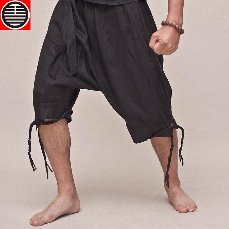 Drunken man. Chinese style free series of men's leisure loose off dang pants