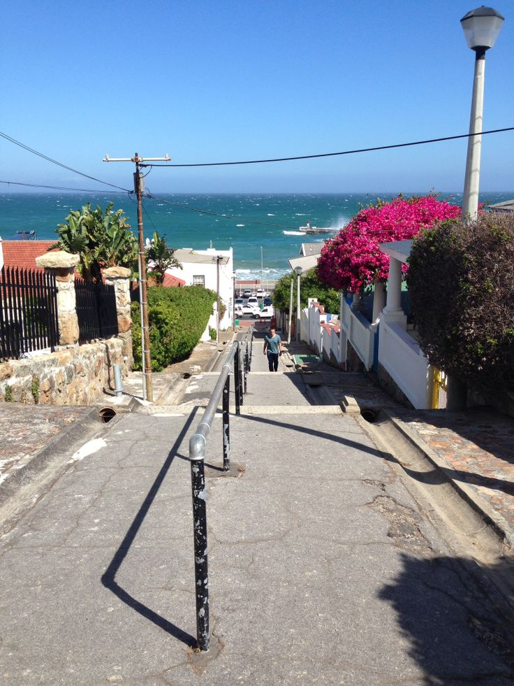 Kalk Bay- going down the steps to granny's house, or the Main Road to SL Bazaars for bread!