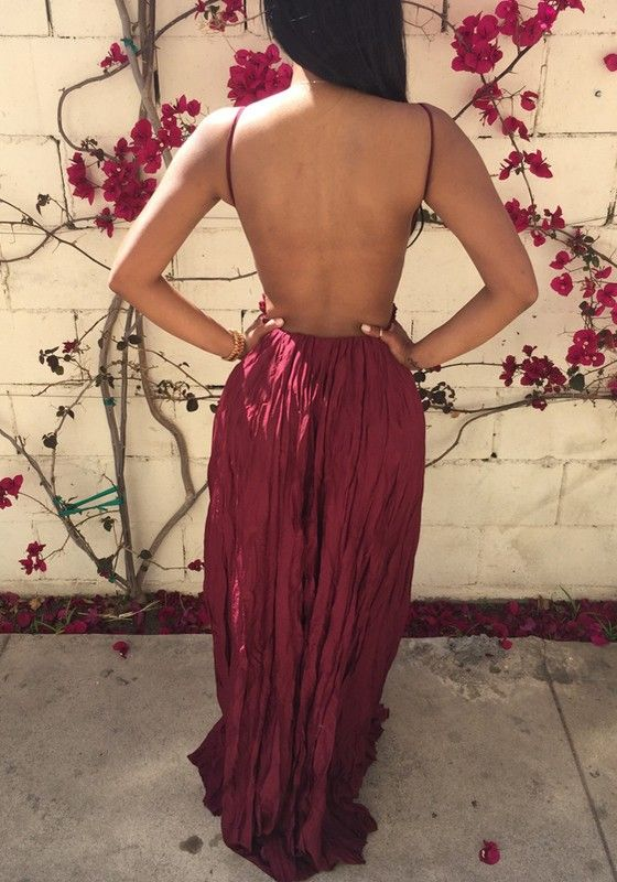 104ec18814c Wine Red Plain Lace Condole Belt Draped V-neck Sexy Maxi Dress - Maxi  Dresses - Dresses