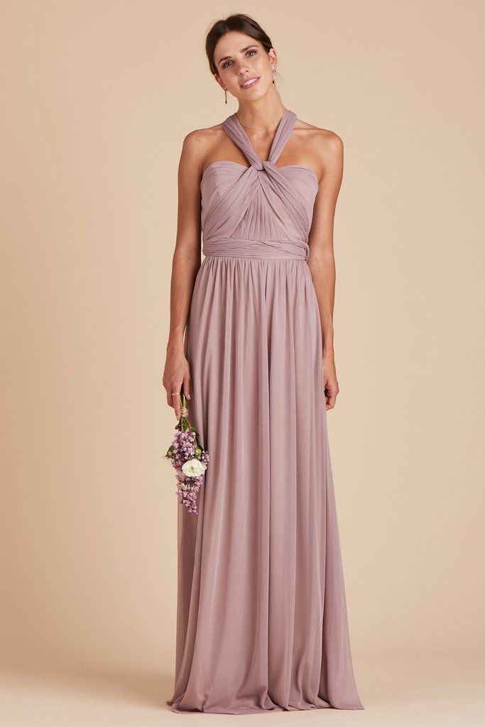 cacc2e82f8bc Full Length Skirts · Birdy Grey Bridesmaid Dress Under $100 - Chicky  Convertible Dress - Mauve - Lightweight Stretch Mesh