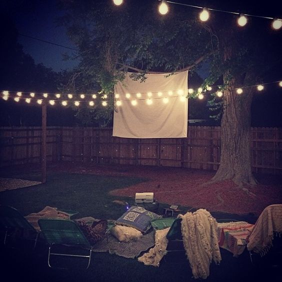 movie night at Edwards' Ranch