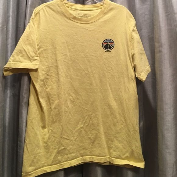 Patagonia shirt yellow men's medium Patagonia shirt. good condition and perfect for lazy days. Patagonia Tops Tees - Short Sleeve