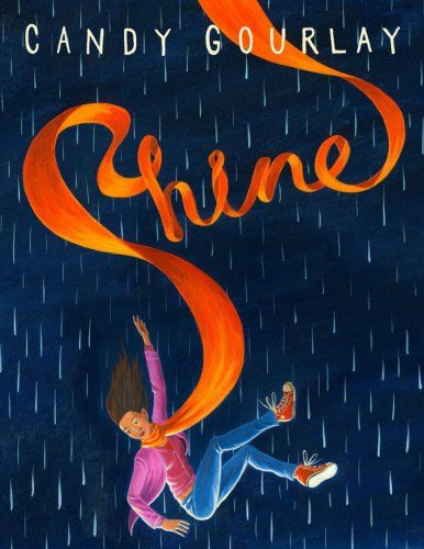 It may be raining but the new hardback copy of SHINE has just arrived to brighten up our day. A gorgeous new book by author and internet extraordinaire Candy Gourlay.