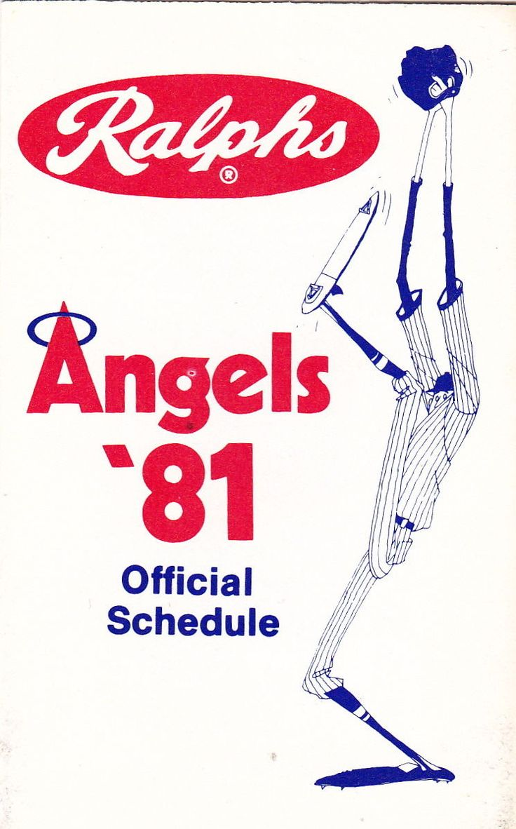 1981 California Angels schedule brought to you by Ralphs.
