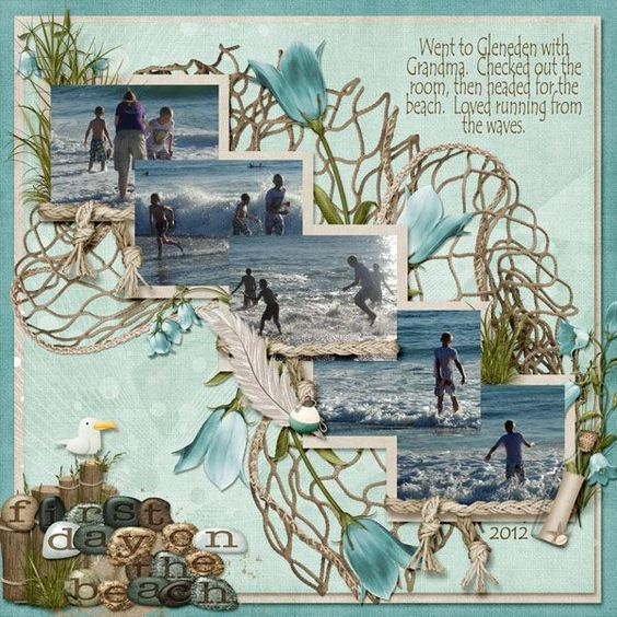 Beach Scrapbook Layouts | ... scrapbook Layout of the Day is First Day on the…:
