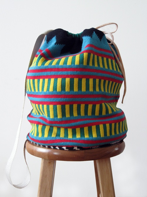 Knit knapsack from All For Everyone.