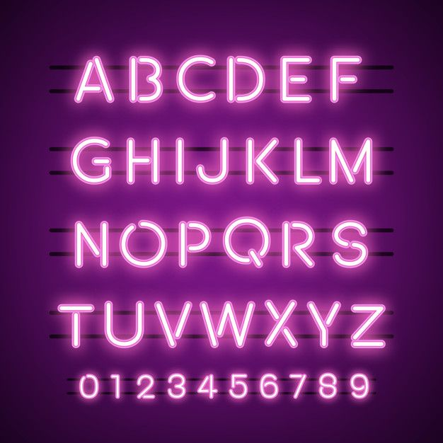 The Alphabet And Numeral System Vectors