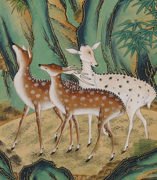 민화에 나타난 사슴의 모습