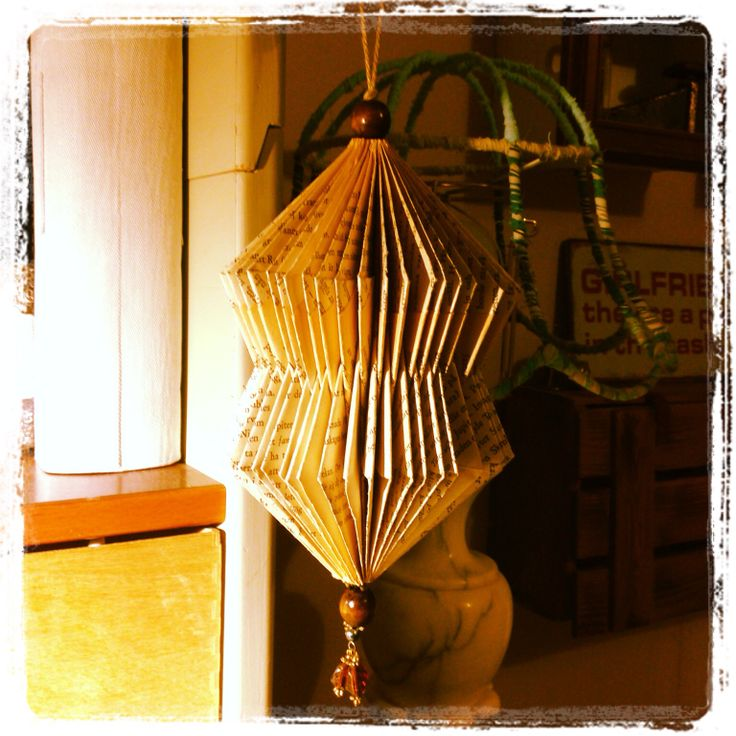 Ornament made out of an #old #book.