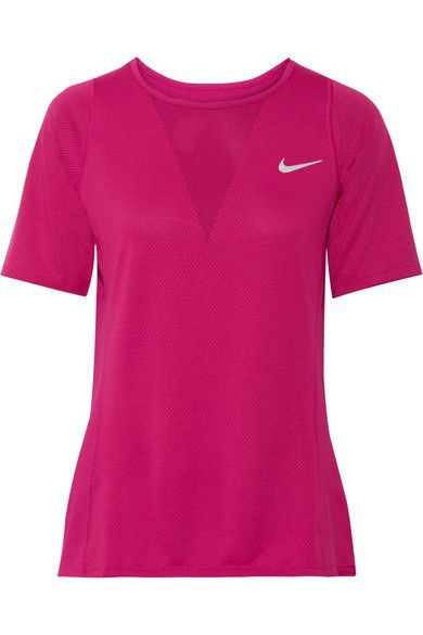 Nike - Zonal Cooling Relay Dri-fit Stretch-mesh Top - Plum - x small