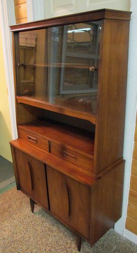 Mid Century Modern GARRISON China Hutch Display Cabinet Buffet Credenza  Vintage