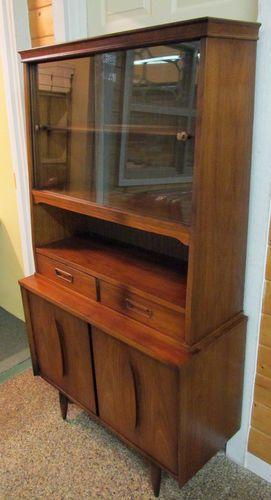 Mid Century Modern GARRISON China Hutch Display Cabinet