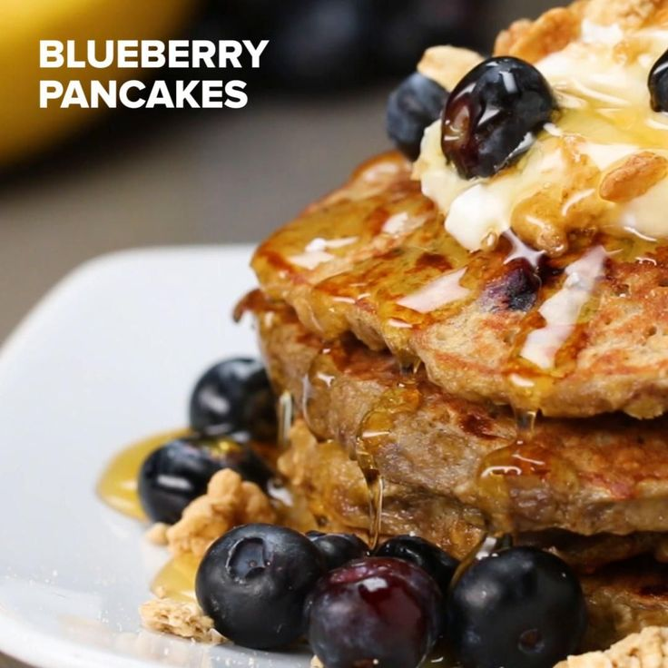 Healthy Blueberry Pancakes by Tasty