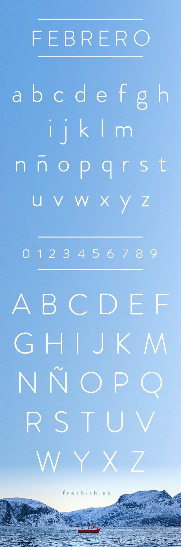 Febrero es una tipografía fresca, elegante y con mucha personalidad. Puedes descargarla aquí