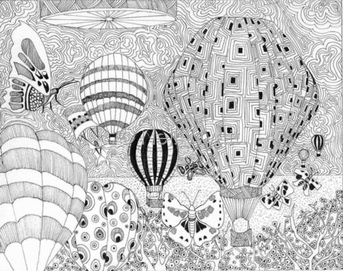 91 Best Images About Adult Colouring~Hot Air Balloons On
