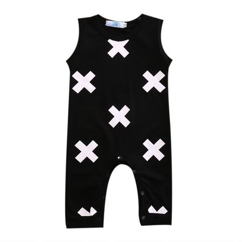 f7f271cf434 Summer Newborn Baby Boys Kid Romper Sleeveless Cross Cotton Romper Jumpsuit Summer  Outfits Clothes Playsuit
