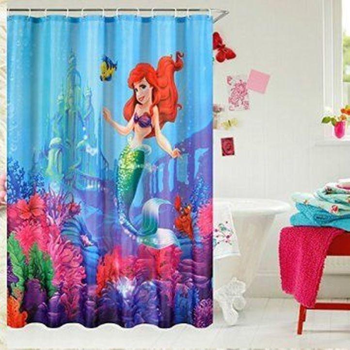 Mermaid Bathroom Decor Shower Tile Designs, Little Mermaid Bathroom Accessories