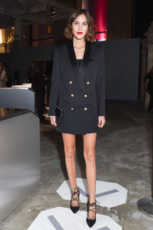 Alexa Chung attends the Balmain X H&M Collection Launch at 23 Wall Street in New York City, on October 20, 2015.