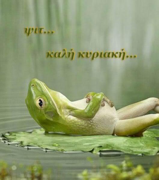 Καλημέρα... Κυριακή