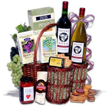 49 best gifts for business associates images on pinterest basket picnic in the park gift basket with ravenswood wines negle Gallery