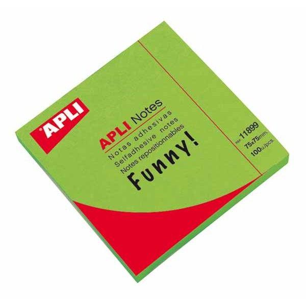 Comprar bloc 100 hojas notas verde brillante 11899  #oficina #tienda #notas #indices #adhesivas #colores #rollo #bloc #taco