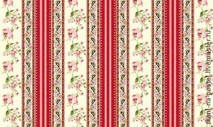 Поплин `Бордюр с розами`. Поплин производства Пакистан. Приятная мягкая ткань, мерсеризованный хлопок. Плотность 115 г/м2.  !00% хлопок. Ширина 220 см.  Подходит для изготовления постельных принадлежностей. Бордюрное расположение узора дает…