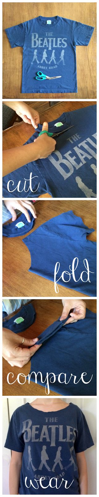 Rock Paper Feather: Quick Craft: Cut Off a T-shirt Collar Like a Pro