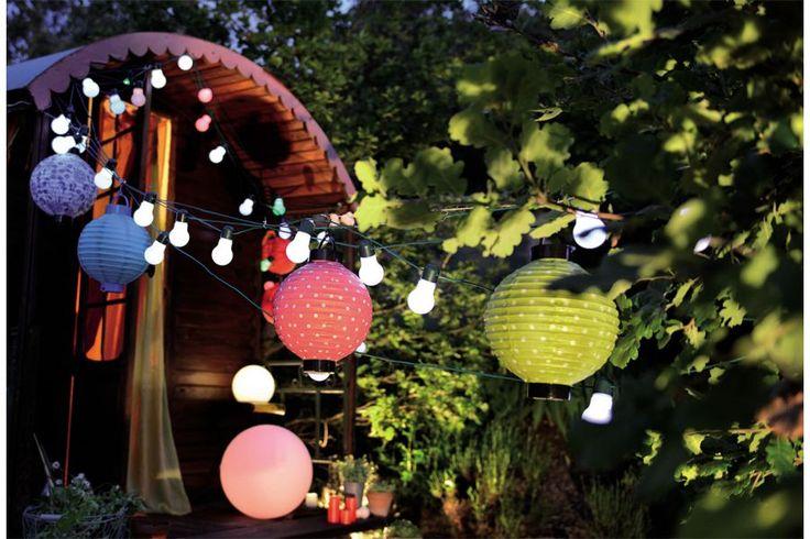 Guirlande Guinguette ampoules colorées