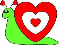heart snail paper craft httpwwwdltk holidayscom - Dklt Crafts