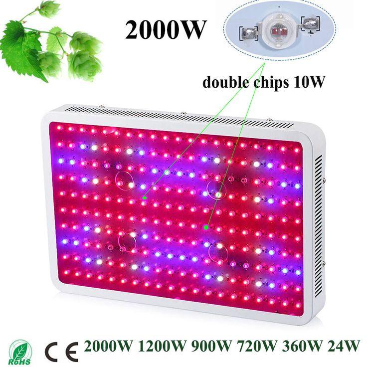 Date Fitolampa LED Élèvent La Lumière 2000 W 1200 W 900 W 720 W 360 W 24 W Double Chips Full spectrum LED croissance lampe pour aquarium de plus en plus