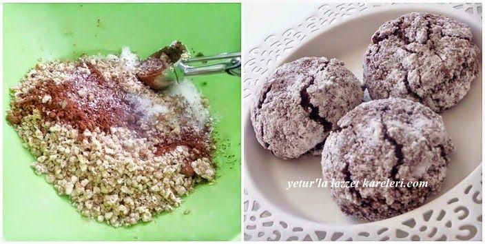 Yetur'la lezzet kareleri.com: antep fıstıklı ve kakaolu koko kurabiyeler
