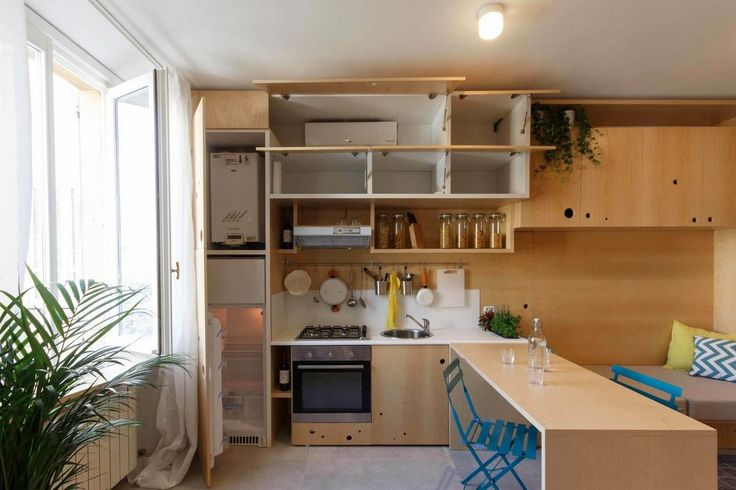 Unique way to approach storage in a 34 sqm apartment