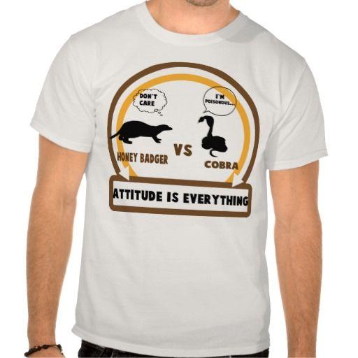 Honey Badger Vs Cobra Attitude is Everything Shirt (more styles available) #cartoon #shirt #cartoonshirt