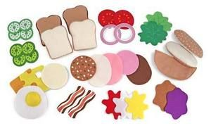 Melissa & Doug Felt Food.  So easy to make yourself!  This is going to be one of E's homemade gifts this Christmas.