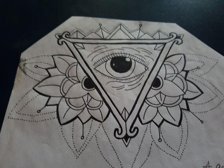 Illumanti tattoo drawing free hand art