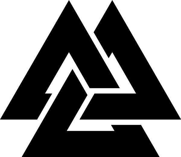 Norse Viking Warriors Valknut Tattoo.