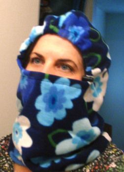 Free Balaclava tutorial and pattern - Wedding Dress Blue