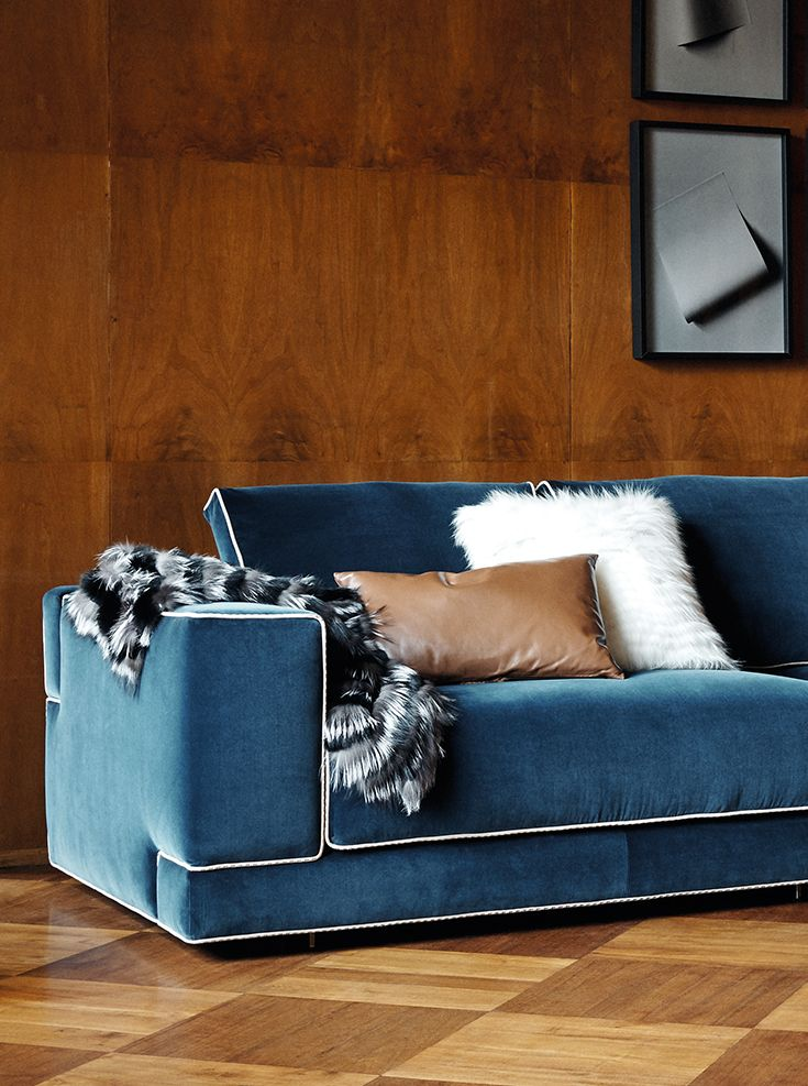 Fendi Casa Sloane Sofa With Vivid Color And Light Piping