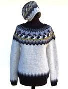 Strandskadesweater og -hue