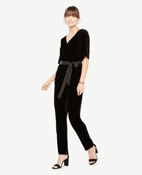 Shop Ann Taylor for effortless style and everyday elegance. Our Belted Velvet Jumpsuit is the perfect piece to add to your closet.
