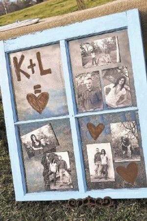 rustic wedding ideas to display photos - Google Search