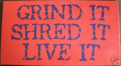 GRIND SHRED LIVE IT Boys Skateboard Room Decor Sign U Pick Color Wood HP Plaque