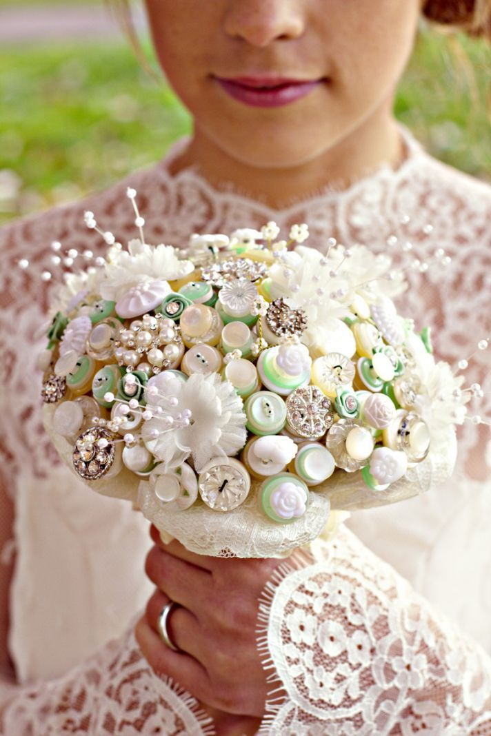 I Do or I Don't to a Button Bridal Bouquet? | OneWed