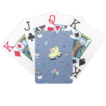 Pegasus party props | navy | kid birthday bicycle playing cards - kids birthday party gift idea child