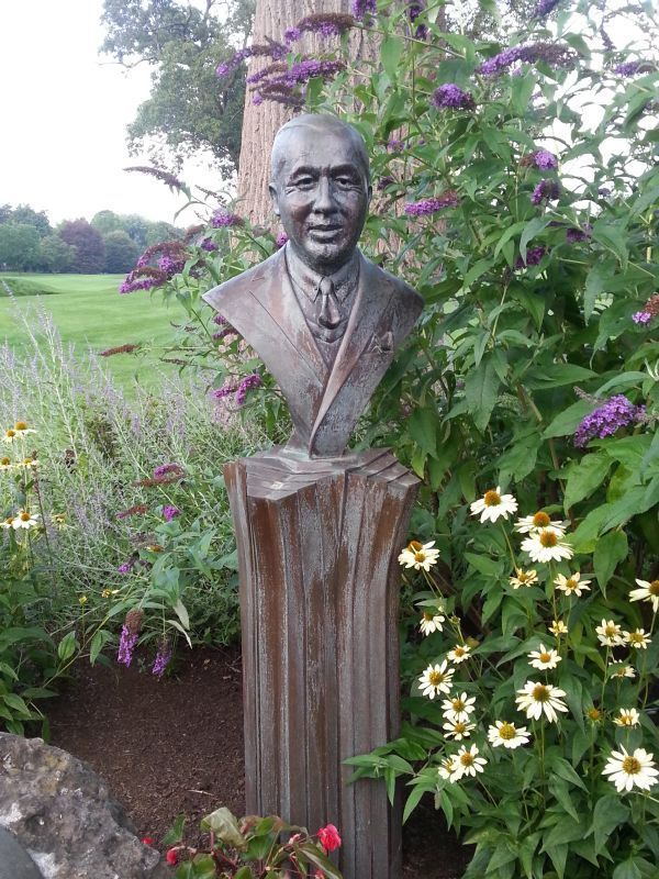 Walter Hagen Bust At The Country Club Of Rochester.