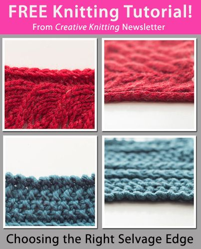 Knitting Edge Stitch Tutorial : Images about knit edges selvedges or selvages on